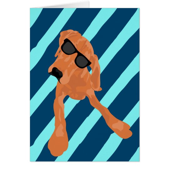 Blank Cool Redbone Coonhound Card