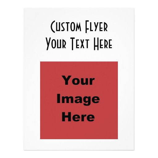 ♥ Blank - Create Your Own Gift Personalized Flyer