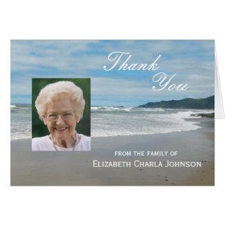 Blank Custom Sympathy Thank You Card - Beach