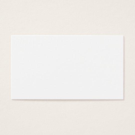 Blank, Customisable Business Card