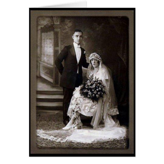 Blank Customisable Vintage Wedding Card