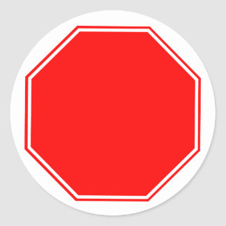 Blank/Customizable Stop Sign Sticker