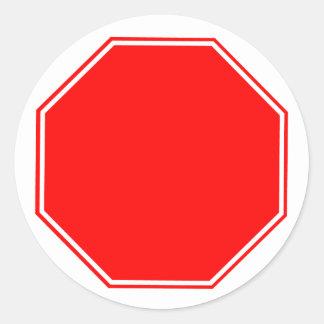 Blank/Customizable Stop Sign Sticker