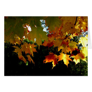 Blank_Dangling Fall Leaves Note Card