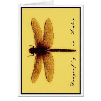 Blank Dragonfly In Amber Card