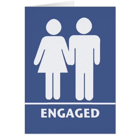 Blank Engagement Card - Men/Women Symbols