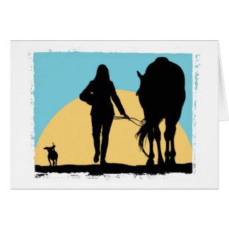 Blank Equestrian Greeting Card