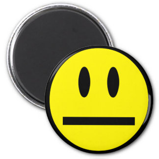 Blank Face Smiley 6 Cm Round Magnet