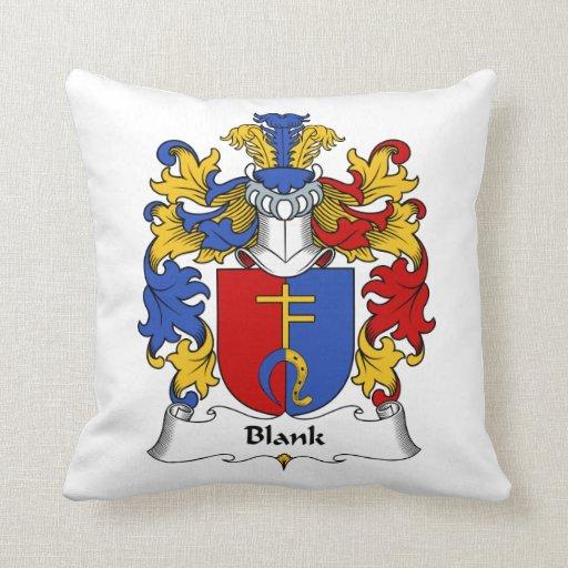 Blank Family Crest Pillow