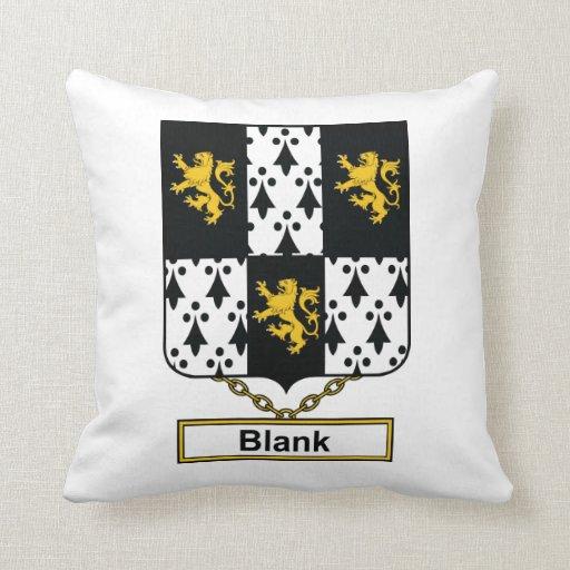 Blank Family Crest Pillows