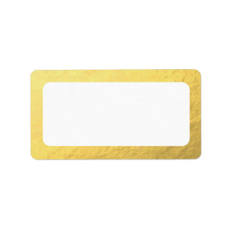 Blank Faux Gold Address Label