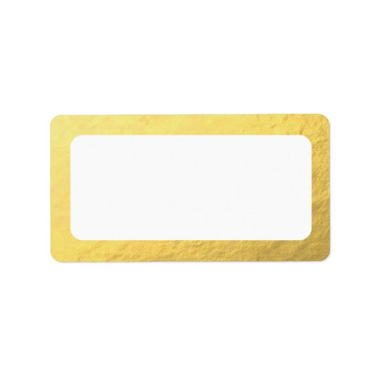 Blank Faux Gold Address Label