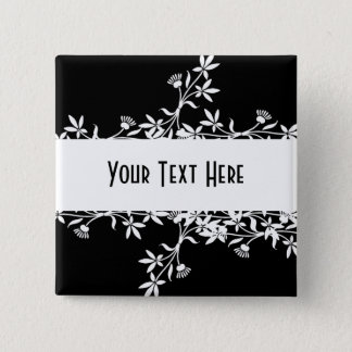 Blank Flower Label - Create Your Own Design 15 Cm Square Badge