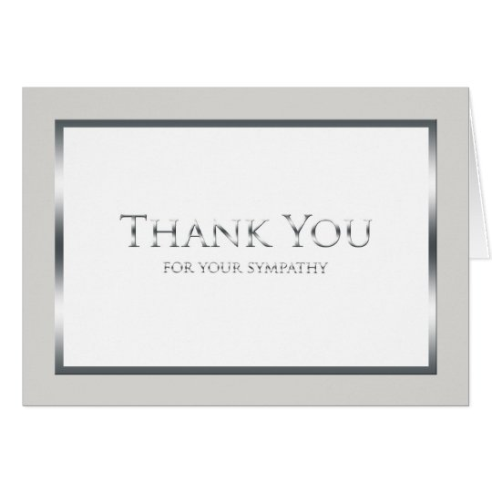 Blank Funeral Thank You Note Card - Classic
