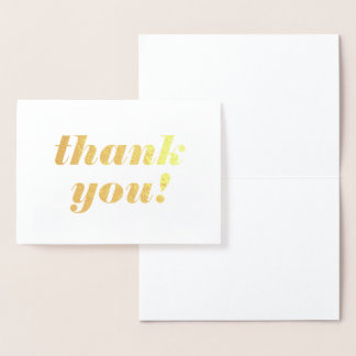 Blank Gold Foil Thank You Cards