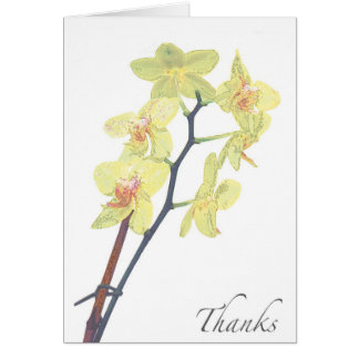 Blank Golden Treasure Orchid Thank You Card