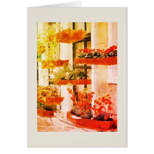 Blank greeting card. card