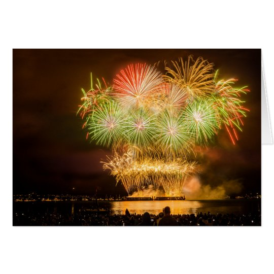 Blank greeting card - Celebration Firework