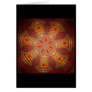 Blank greeting card - Chequered mosaic