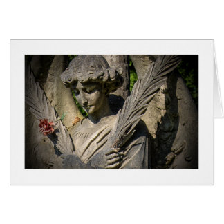 Blank Greetings Card: Angel With Flower Card