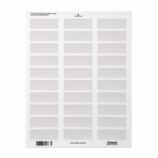 Blank grey save the date return address label