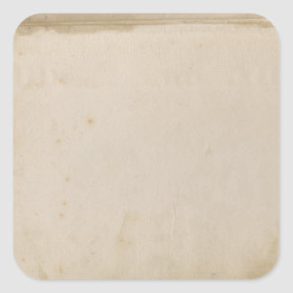Blank Grungy Antique Stained Paper Square Sticker