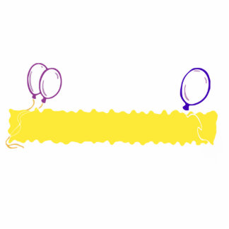 Blank Happy Birthday Banner Cut Out