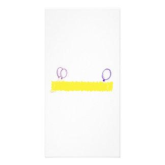 Blank Happy Birthday Banner Photo Card Template