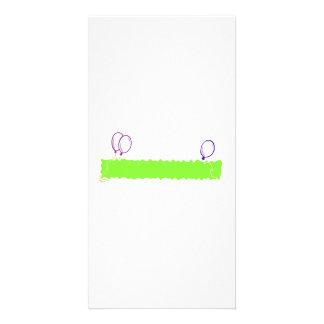Blank Happy Birthday Banner Custom Photo Card