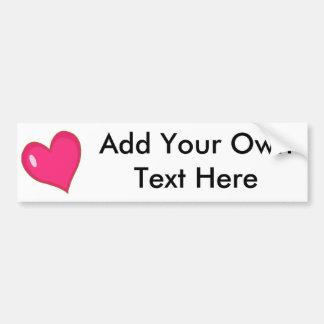 Blank Heart Bumper Sticker