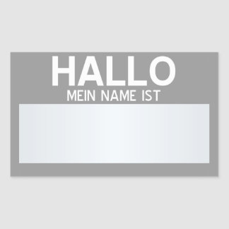 Blank Hello My Name Is ... Customisable Rectangular Sticker