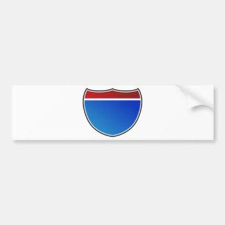 Blank Highway Freeway Road Sign Icon Bumper Sticker