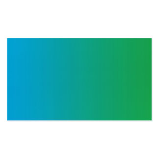 Blank in front aqua green blue business card