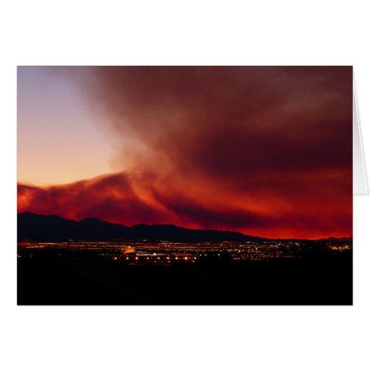 Blank Inside,  Sky on Fire, Las Vegas Card