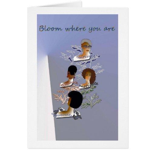 Blank inspirational greeting card