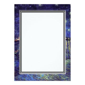 blank invitation, van Gogh starry night 14 Cm X 19 Cm Invitation Card
