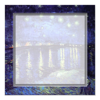 blank invitation, van Gogh starry night Card