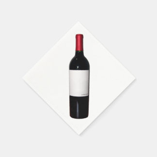 Blank Label Wine Bottle Napkins Paper Serviettes