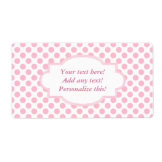 Blank Labels Personalized Labels Pink Polka Dots