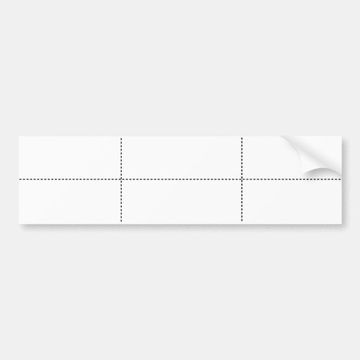 Blank Labels (White/Sheet of 6) Bumper Stickers
