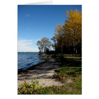 Blank_Lake Simcoe Autumn Shore Note Card