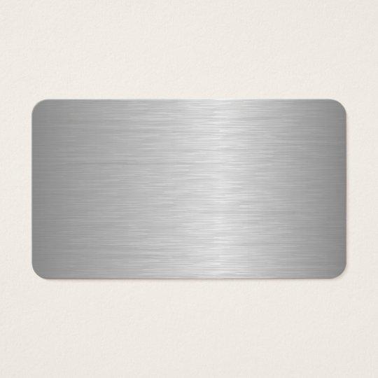 Blank Metallic Looking Business Cards