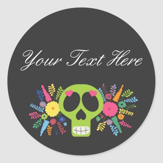 Blank Mexican Sugar Skull Custom Packaging Classic Round