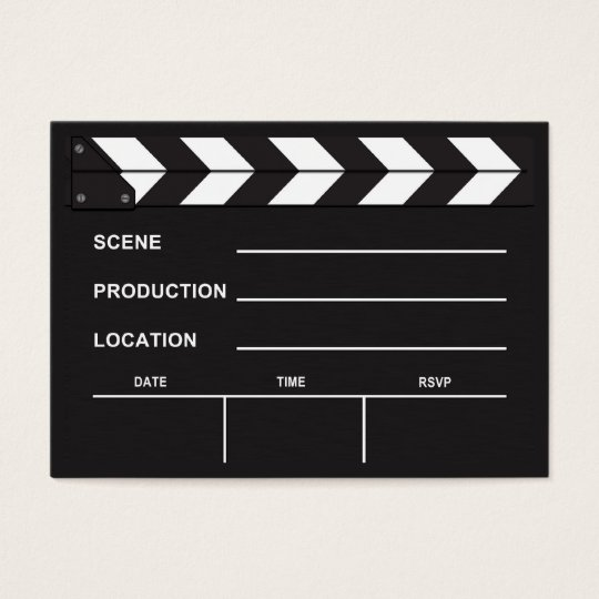 Blank Movie Clapboard Business Cards