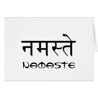 Blank Namaste Greeting Card