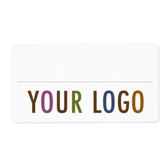 Blank Name Badge Stickers Custom Logo Employee Shipping Label