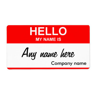 Blank name tag template