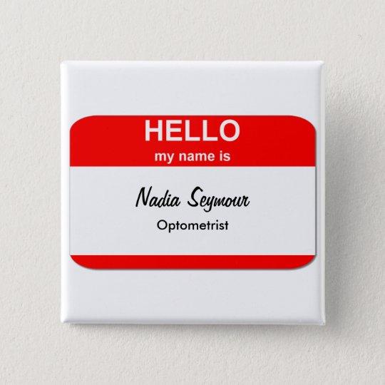 Blank Name Tag Templates 15 Cm Square Badge