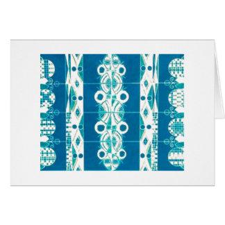 Blank Note Card (Art Deco/Native American Rug)