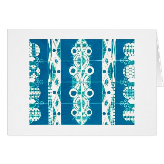 Blank Note Card (Art Deco/Native American Rug)